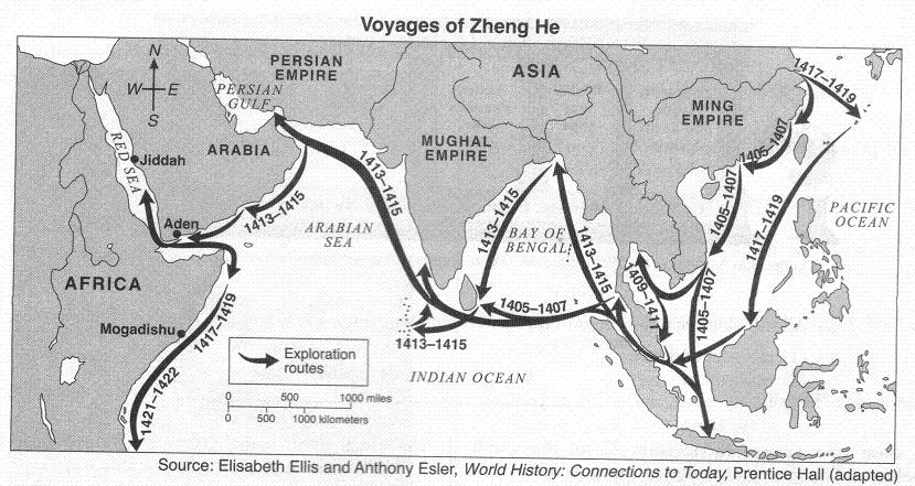 """zheng he vs christopher columbus Blogging history: china's islamic christopher columbus decades before christopher columbus was even born, 18 years before europeans began their """" age of discovery,"""" an admiral from the chinese empire sailed west, explored unknown lands, visited with strange """"barbarian"""" peoples, and projected."""